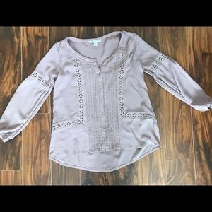 American Eagle Dusty Pink Peasant Blouse xxs